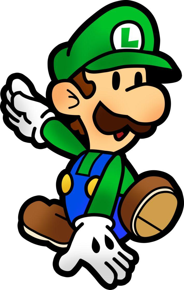 Mario and Luigi Paper Jam: Paper Luigi by Fawfulthegreat64 on DeviantArt