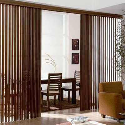 Our New Real Wood Vertical Blinds Give You The Richness And Warmth Of Genuine Real Wood