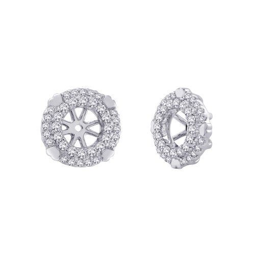 10K White Gold, Diamond Earring Jackets (1/3 cttw) Katarina. $365.00