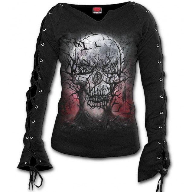 Camiseta Dark Roots para Mujer de Spiral Direct #fashion #gothgoth #gothic #gotico #rock #calavera #skull #xtremonline