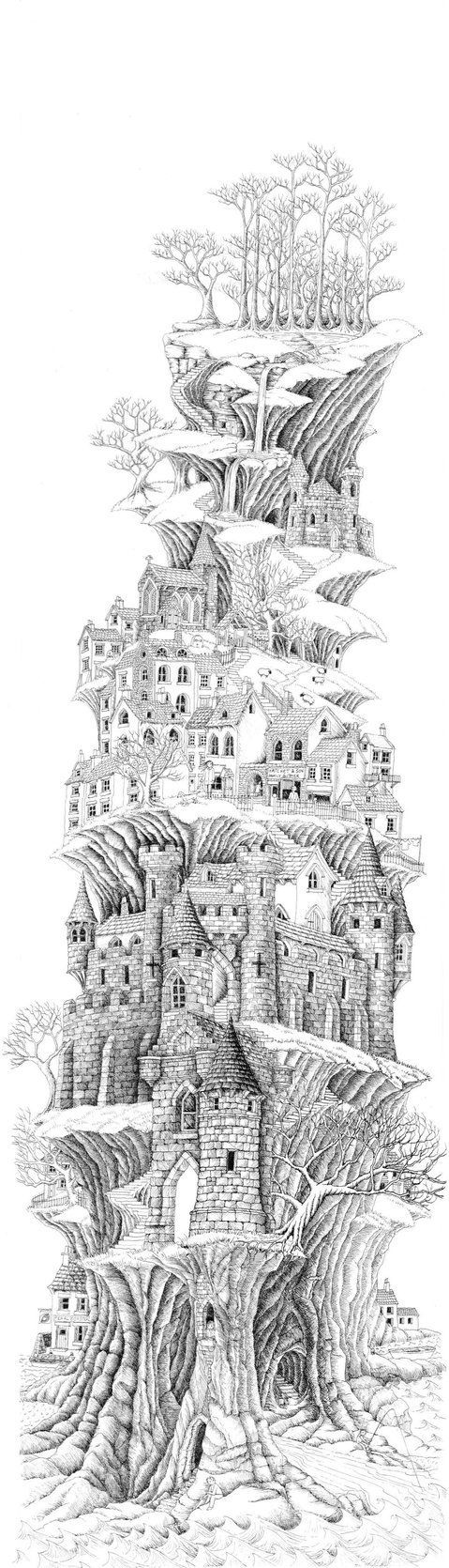 Incredible Coloring Page Perfect For Adults One Of The Most Elaborate And Detailed Pictures I