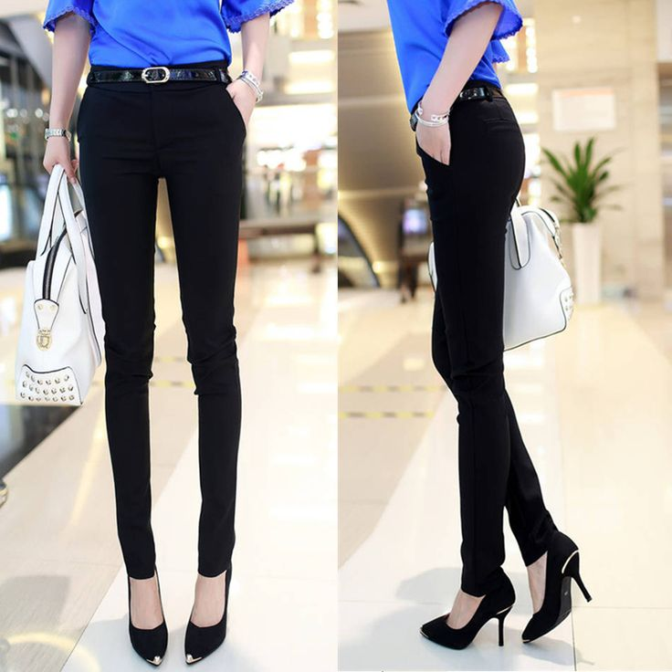 ==> [Free Shipping] Buy Best spring autumn women OL casual suit trousers lady Slim thin pencil pants female fashion Korean version long pants with belt Online with LOWEST Price | 32739206714