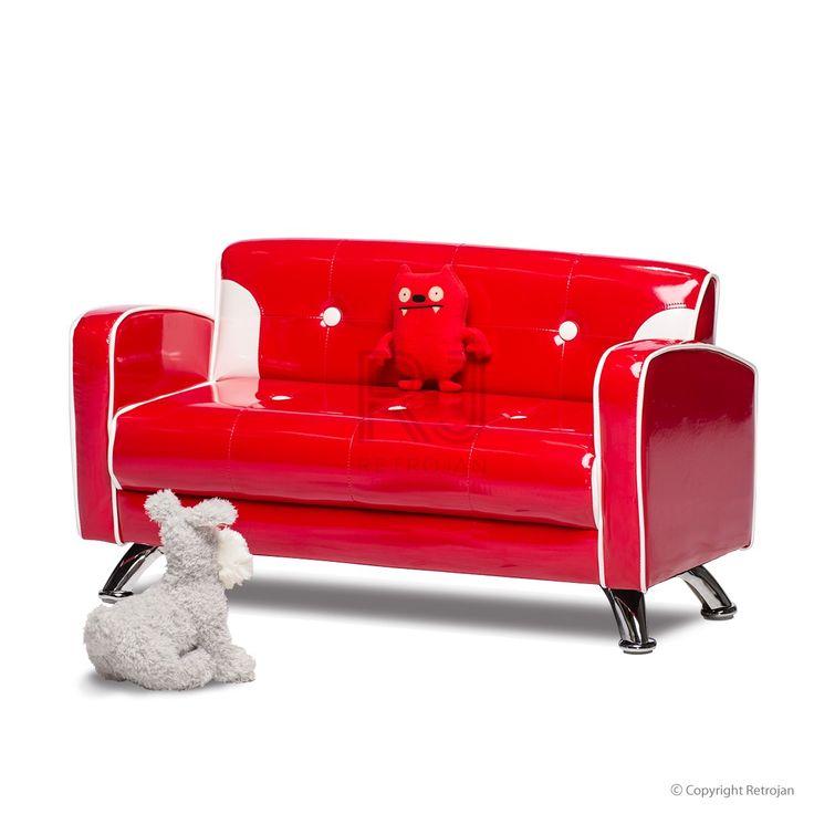 Ginny Kids Sofa - Fire Engine Red | $99.00