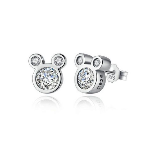 NEW SILVER STERLING S925 CUTE DAZZLING MOUSE STUD EARRINGS UK SELLER + Gift #WOSTU #Trendy #AnniversaryEngagementGiftPartyWedding