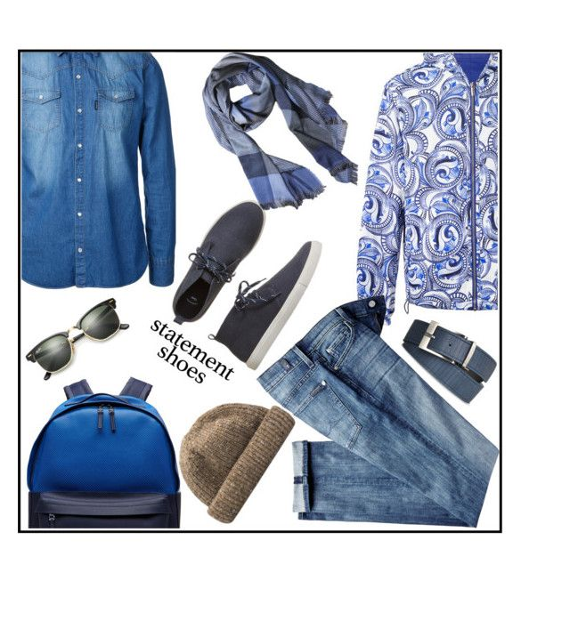 """""""weekend"""" by kleinwillwin ❤ liked on Polyvore featuring Gap, Versace, Guild Prime, 7 For All Mankind, Lacoste, Ray-Ban, Armani Jeans, men's fashion and menswear"""
