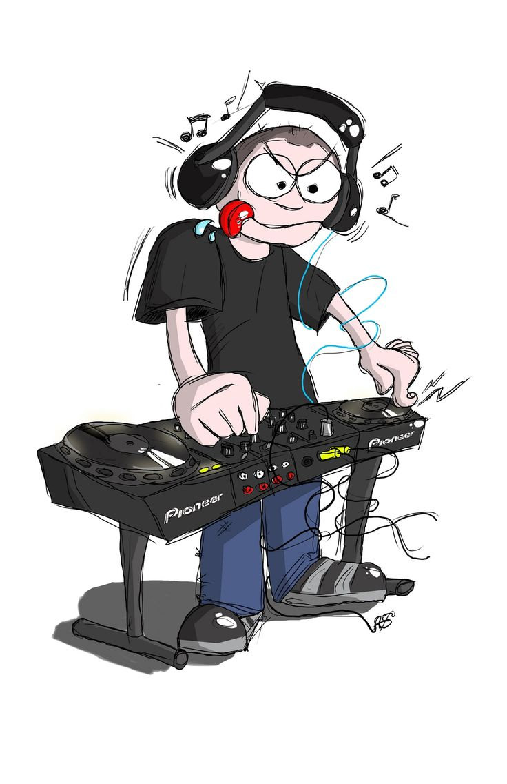 DJ #DJ #music #records #caricature #caricatures #drawing # ...