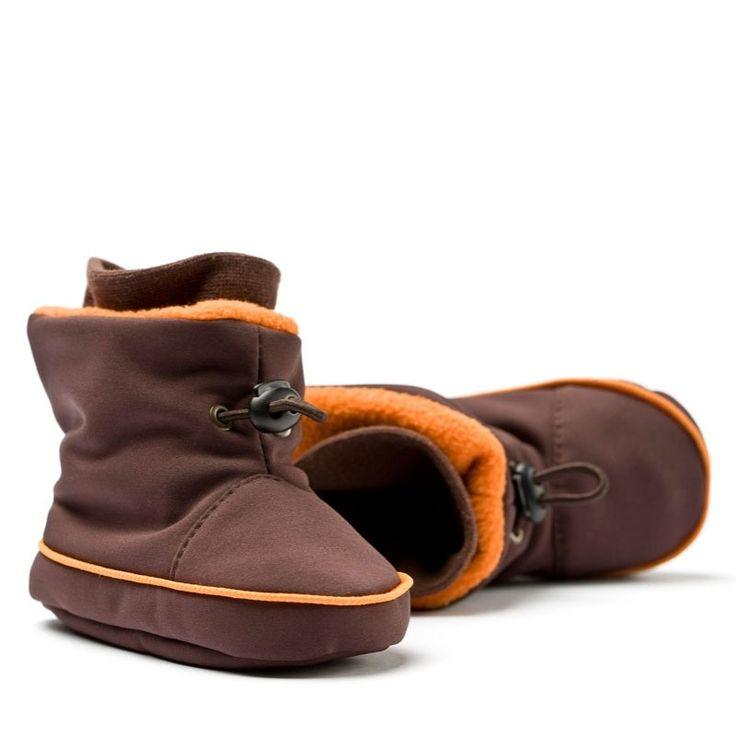 Liliputi® Babywearing Booties Brown/Orange   Liliputi baby shop #babybooties #liliputi #babywearing