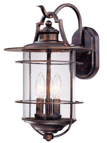 "Franklin Iron Works Casa Mirada 16 1/8"" High Outdoor Light by Unknown. $169.99. From the Franklin Iron Works Casa Mirada collection comes this warm and rustic style outdoor wall light. The light features a bronze finish with seedy glass for a traditional look. The classic style will add charm to your home."