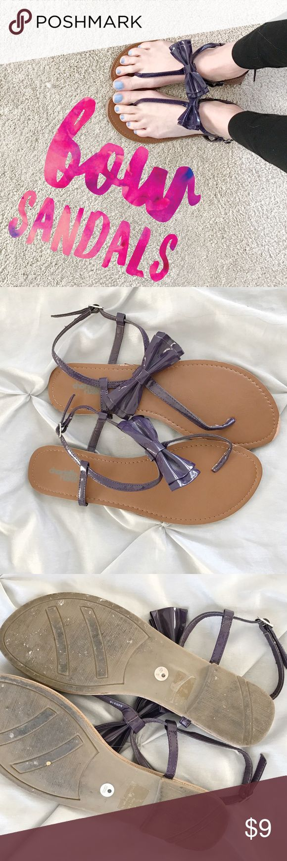Purple Bow Sandals size 8 Purple Bow Sandals size 8, only worn once Charlotte Russe Shoes Sandals