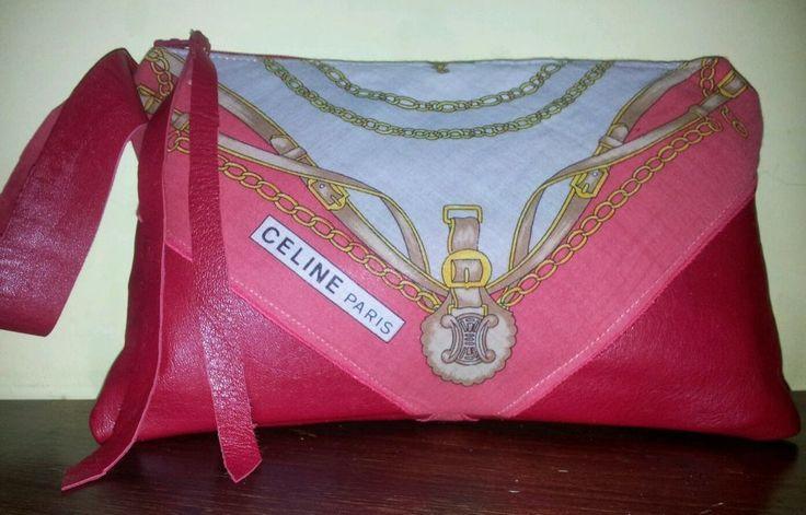 Borsa Clutch Pochette. CELINE Paris Foulard Vintage Bag