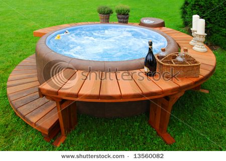 nice outdoor idea especially if yard isn't really big enough for a pool...sun and maybe build something that can be put over for shade.....