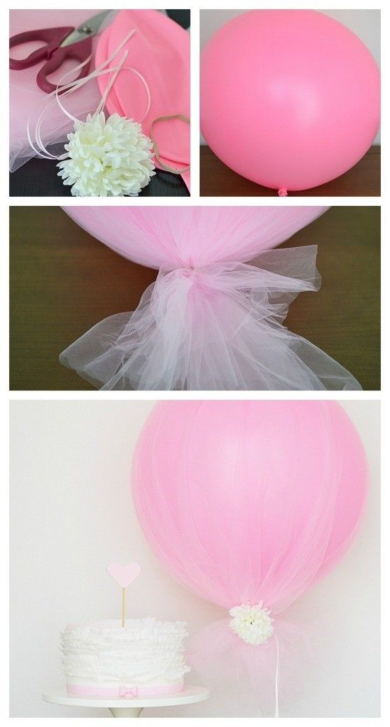 25 best tulle balloons ideas on pinterest tulle baby for Baby shower tulle decoration ideas