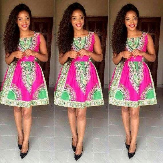 Green Pink Dress