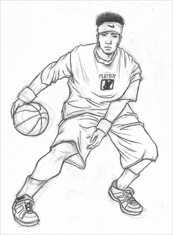 Drawings Of Basketball Players Basketball Drawings Sports Drawings Drawings