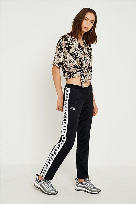 4274004f6da Kappa Banda Astoria Black Track Pants | Outfit | Pants, Bdg jeans, Kappa