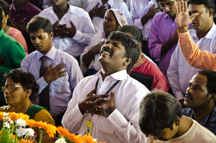 Church members from AFT church surrendering their life to The Lord Jesus Christ, in a worship service led by Rev. Sam P. Chelladurai