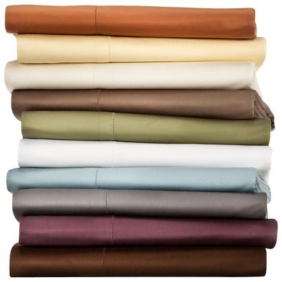 Fieldcrest® Luxury Egyptian Cotton 600 Thread Count Sheet Sets and Pillowcases. Most wonderful sheets! From Target