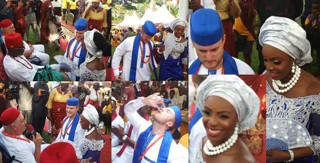 Beautiful Photos From The Traditional Marriage Of Oyinbo Man And His Nigerian Bride In Imo State