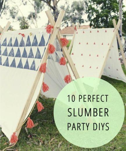 10 Perfect Slumber Party DIYs !!