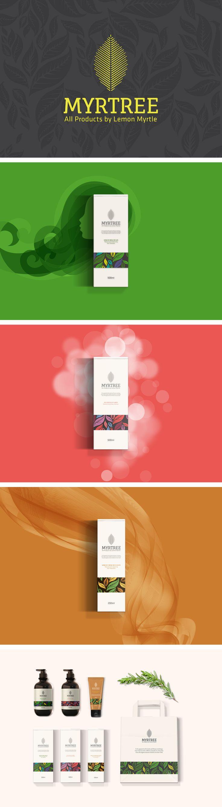 Myrtree / make Myrtle tea, shampoo, perfume / Package Design