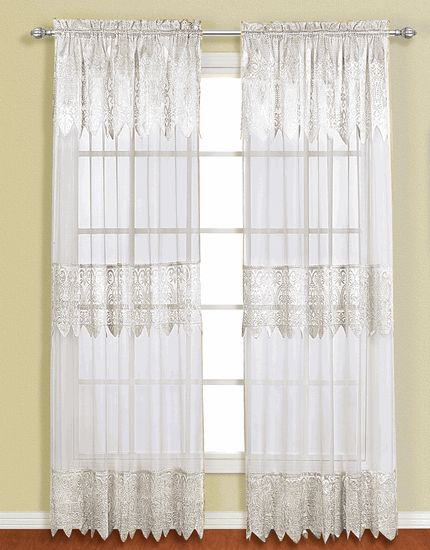 Valerie Curtains Are A Sheer U0026 Macramé Combination Style. Panels Are  Embellished With A Scalloped