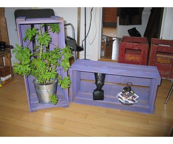Frugtkasser, Til retro indretning med lilla patina (jeg har