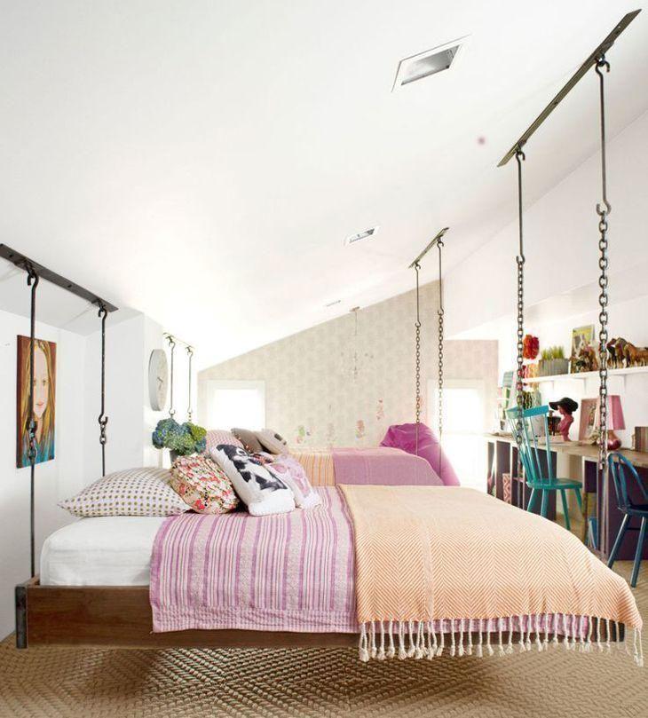 70 ideias de cama suspensa para mudar já o cantinho do descanso