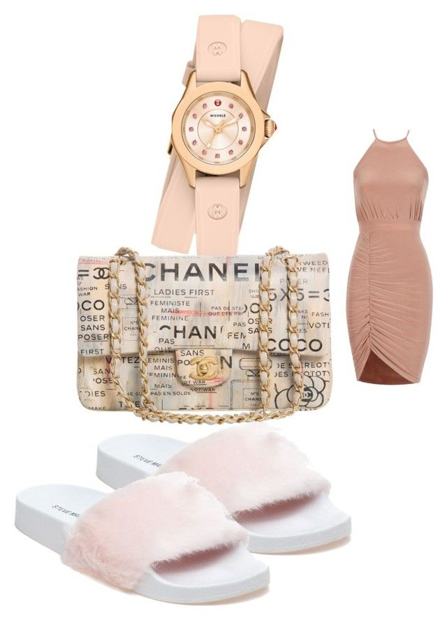 """""""Untitled #112"""" by adrianna-nicole-smith on Polyvore featuring Steve Madden, Chanel and Michele"""