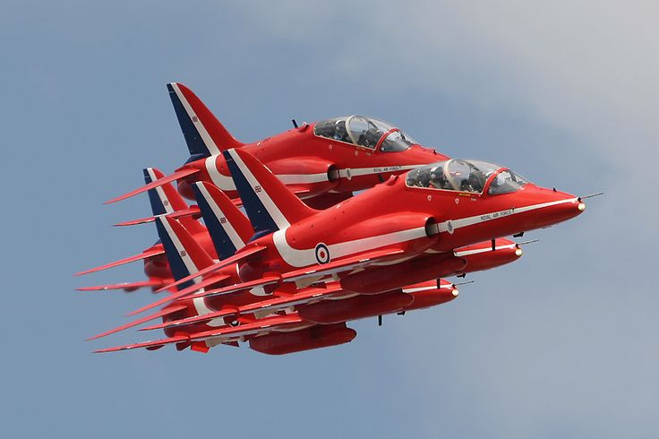 BAE Hawks of the Red Arrows #aviation #aircraft #military