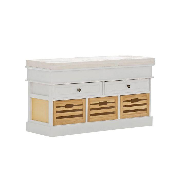Inspirational Home u Haus Schellin Wood Bench with Storage