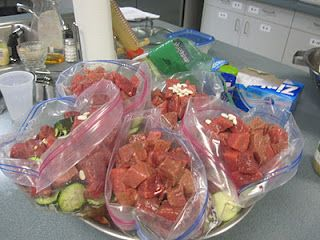 Freezer Cooking! 100 meal cook. No meals are duplicated. all are for 8 and most go in gallon baggies!