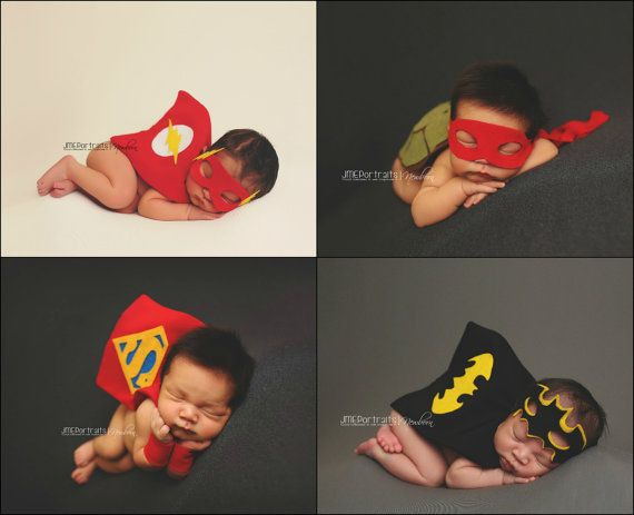 Newborn Superman, Batman, TMNT & Flash Superhero Costumes for Baby Boy, Buy More Save More, DC Comics, Marvel Comics, Photography Props, Boy