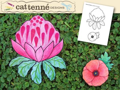 Waratah and Poppy crafts |