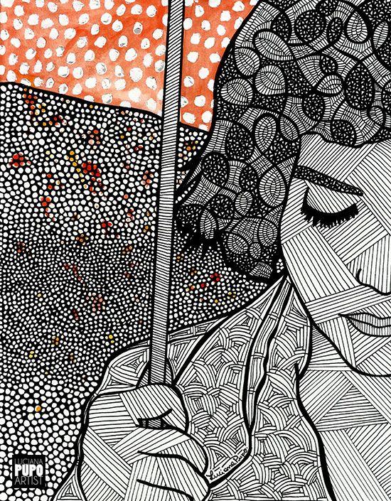 Amelie Poulain pela artista Luciana Pupo - IG @lucianapupoart