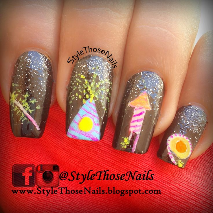 Manisha's FollowManimatters: Crackers nail art by Anita from StyleThoseNails : ...