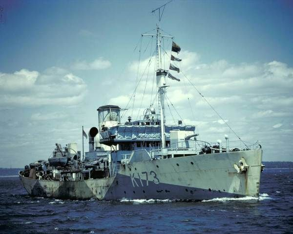 On 22 February 1943 HMCS Weyburn (A/Lt.Cdr. Thomas Maitland Wake Golby, RCNR) was mined off Cape Espartel east of Gibraltar in position 35º46'N, 06º02'W. Twelve members off her crew including her commanding officer were lost with the ship. The mine was laid by U-118 on 1 February 1943.