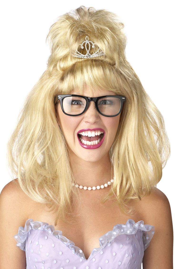 blonde prom queen nightmare wig costume wigs - Halloween Costumes With Blonde Wig