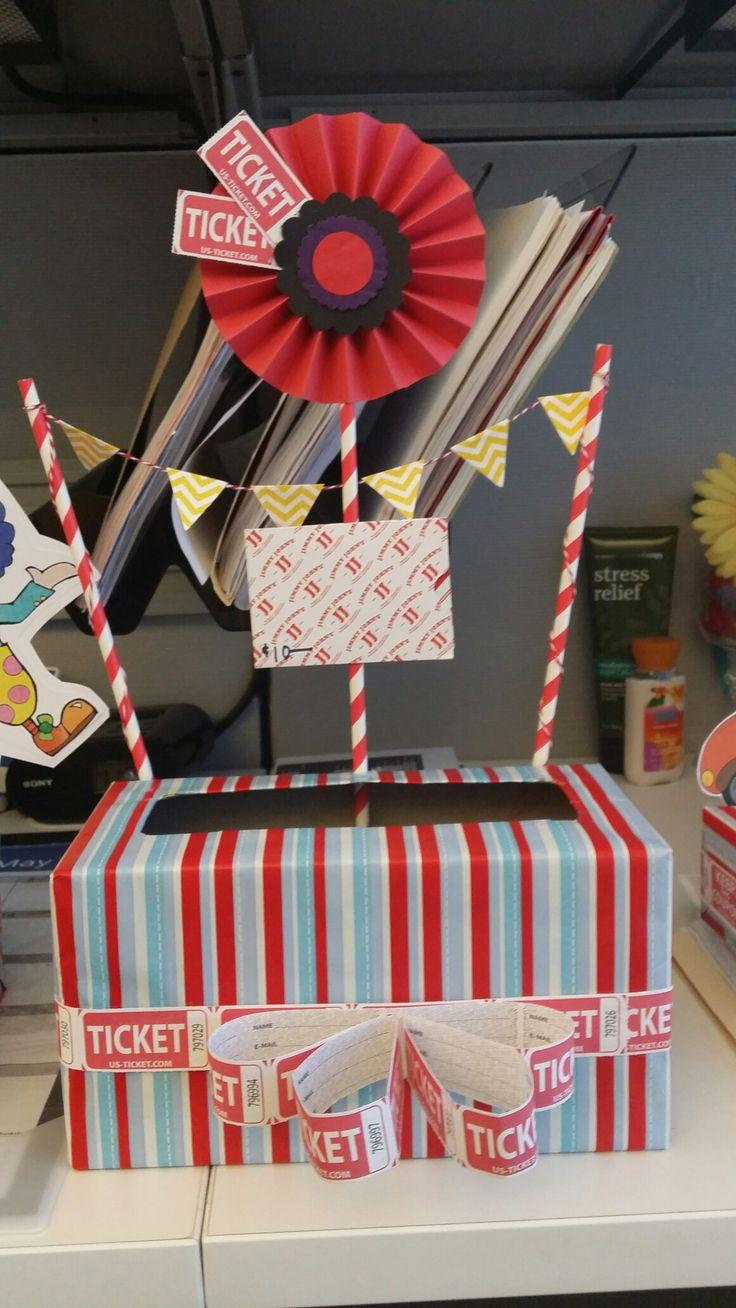 Carnival raffle box