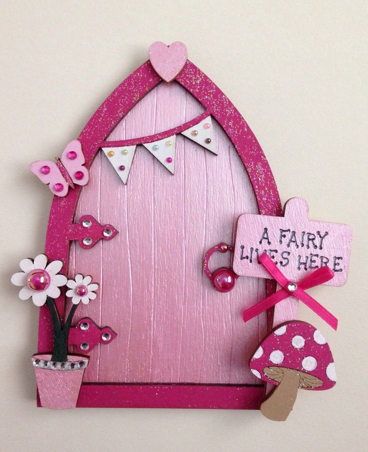 A personal favourite from my Etsy shop https://www.etsy.com/uk/listing/265513898/magical-pink-fairy-door