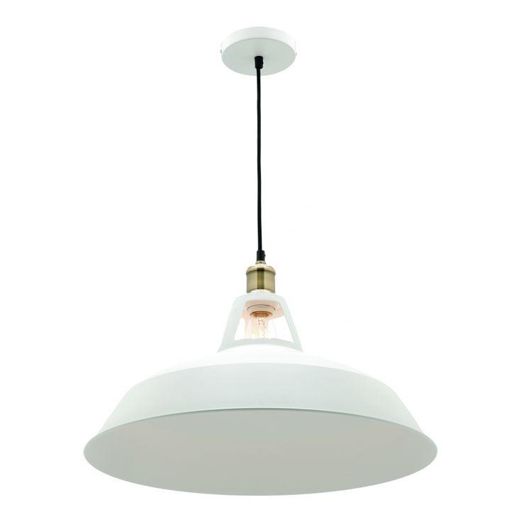 Large Daphne Metal Pendant Light, White