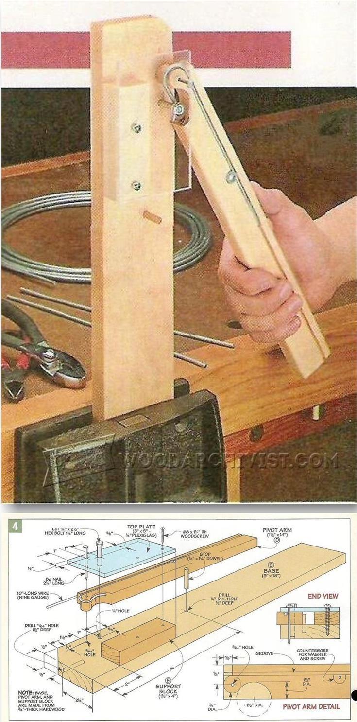 Wire Hangers Bending Jig - Woodworking Tips and Techniques | WoodArchivist.com