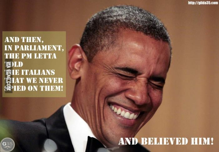 Breaking new: Obama reaction about Italian PM speech about #PRISM and #Datagate, Italian privacy is safe