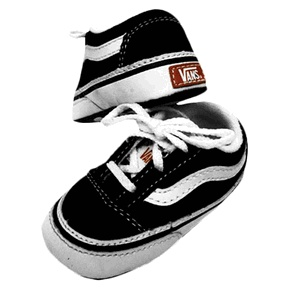 fb34a328ea Vans Old Skool Infant Black Crib Shoe... omg