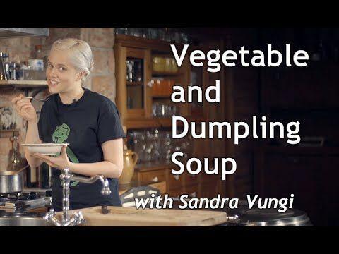 Easy vegetable and dumpling soup (+video) |VeganSandra - tasty, cheap and easy vegan recipes by Sandra Vungi