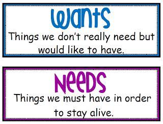 18 best wants vs needs images on Pinterest | Teaching ...