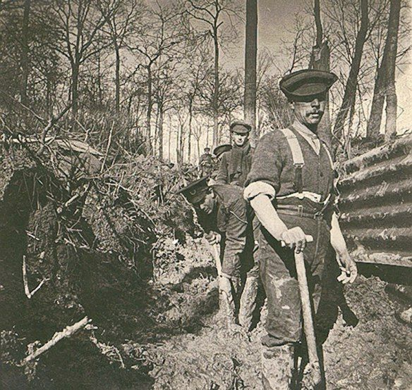 The Trenches at Ploegsteert, Autumn/Winter 1914 from somersetremembers.wordpress.com