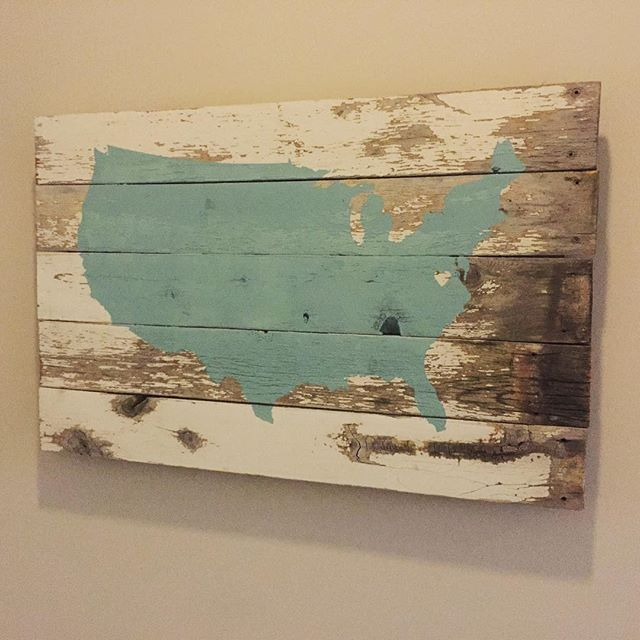 Awesome Sign | Pine wood fence slats | Detailed vinyl cut of the United States of Awesome | A handcut heartshape for Virginia | Paint remnants @chelleswatabe @thequirl @kcharrison8 @markmharrison @camigoold @officialjohnhancock