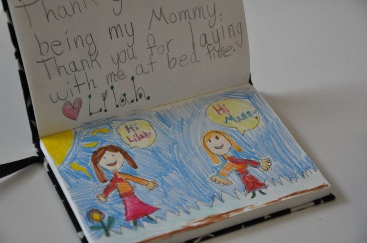 cute idea to keep a journal for you and one for your spouse that the kids can write birthday, mother/father day messages in,