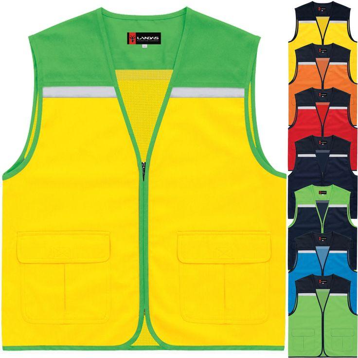 Multi Pockets Mesh Safety Vest Sleeveless Photographer Hunting Hi Vis Security #hellobincom
