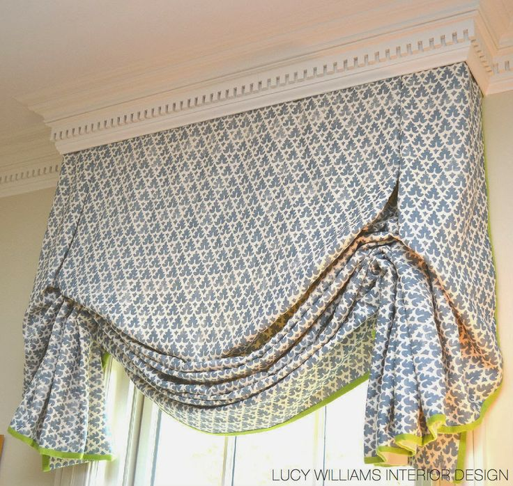 living room window valance ideas%0A Handkerchief Balloon valance great on a single or double window looses  something in the translation onto wide span